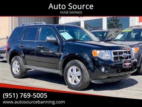 2012 Ford Escape for sale at Auto Source in Banning CA