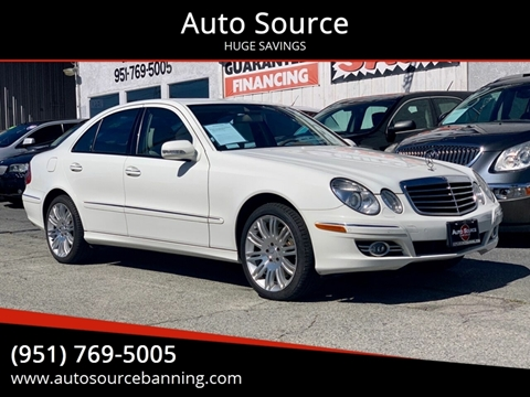 2007 Mercedes-Benz E-Class E 550 for sale at Auto Source in Banning CA