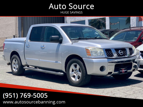 2006 Nissan Titan for sale at Auto Source in Banning CA