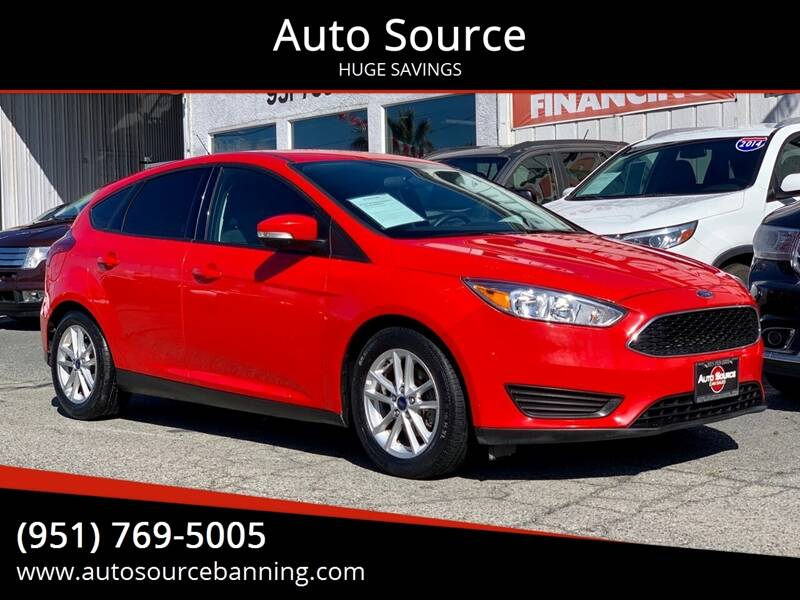 2016 Ford Focus for sale at Auto Source in Banning CA