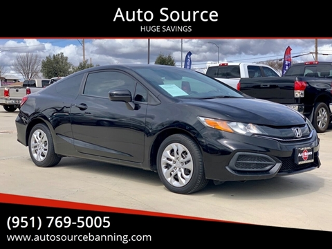 2014 Honda Civic for sale at Auto Source in Banning CA