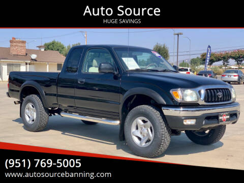 2004 Toyota Tacoma for sale at Auto Source in Banning CA
