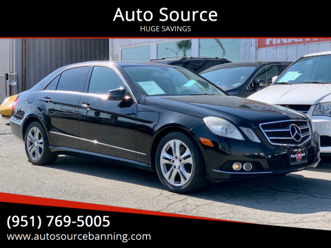 2010 Mercedes-Benz E-Class for sale at Auto Source in Banning CA