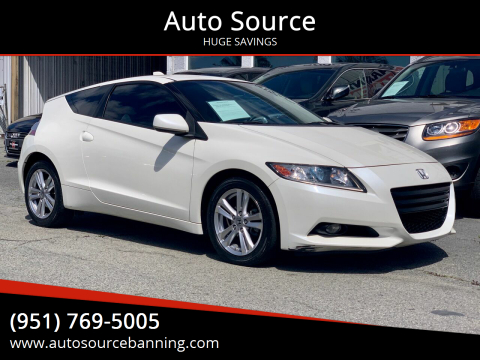 2011 Honda CR-Z for sale at Auto Source in Banning CA