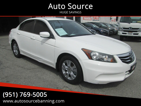 2012 Honda Accord for sale at Auto Source in Banning CA