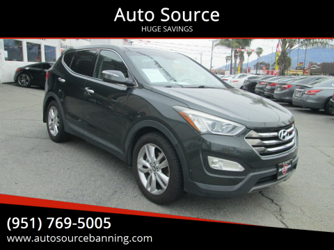 2013 Hyundai Santa Fe Sport for sale at Auto Source in Banning CA