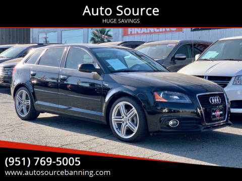 2012 Audi A3 for sale at Auto Source in Banning CA