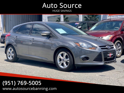 2014 Ford Focus for sale at Auto Source in Banning CA