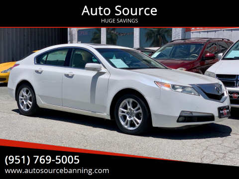 2009 Acura TL for sale at Auto Source in Banning CA