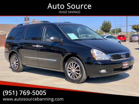 2012 Kia Sedona for sale at Auto Source in Banning CA