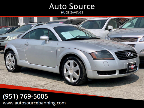 2002 Audi TT for sale at Auto Source II in Banning CA