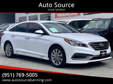2015 Hyundai Sonata for sale at Auto Source in Banning CA