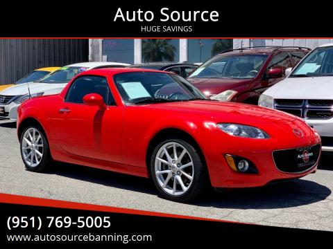 2010 Mazda MX-5 Miata for sale at Auto Source in Banning CA