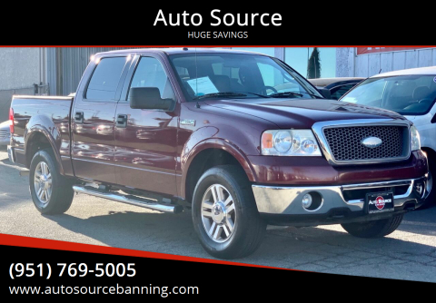 2006 Ford F-150 for sale at Auto Source in Banning CA