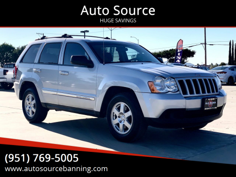 2010 Jeep Grand Cherokee for sale at Auto Source in Banning CA