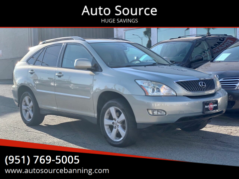 2007 Lexus RX 350 for sale at Auto Source in Banning CA