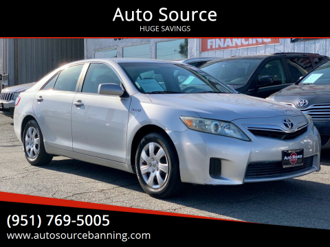 2011 Toyota Camry Hybrid for sale at Auto Source in Banning CA