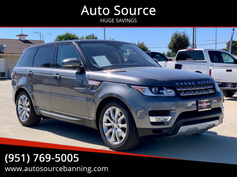 2016 Land Rover Range Rover Sport for sale at Auto Source in Banning CA