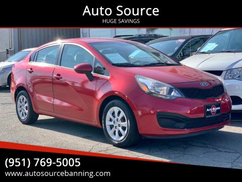 2012 Kia Rio for sale at Auto Source in Banning CA