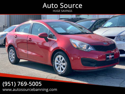 2012 Kia Rio for sale at Auto Source in Banning CA