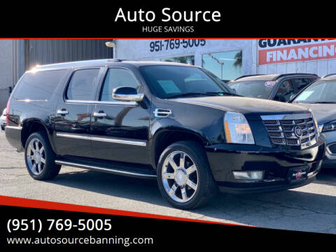 2007 Cadillac Escalade ESV for sale at Auto Source in Banning CA