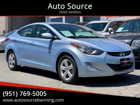 2013 Hyundai Elantra for sale at Auto Source in Banning CA