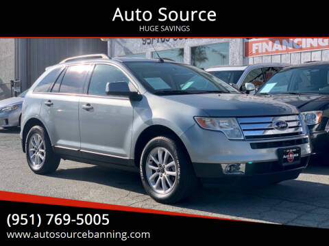 2007 Ford Edge for sale at Auto Source in Banning CA