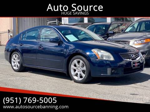 2007 Nissan Maxima for sale at Auto Source in Banning CA