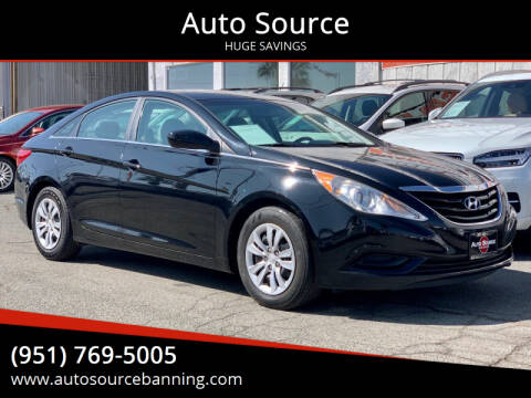 2012 Hyundai Sonata for sale at Auto Source in Banning CA