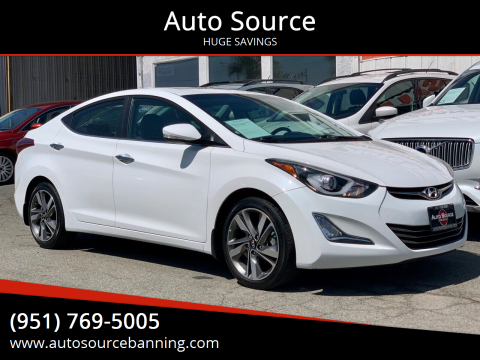 2014 Hyundai Elantra for sale at Auto Source in Banning CA