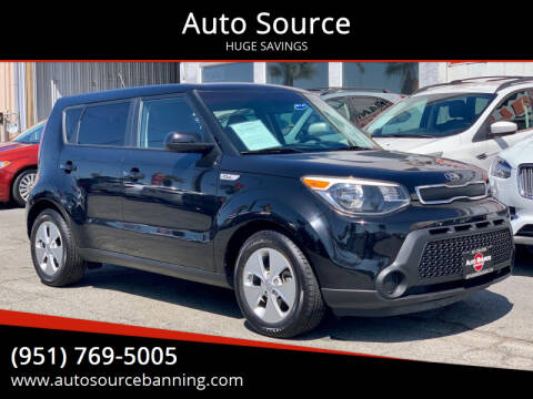 2016 Kia Soul for sale at Auto Source in Banning CA