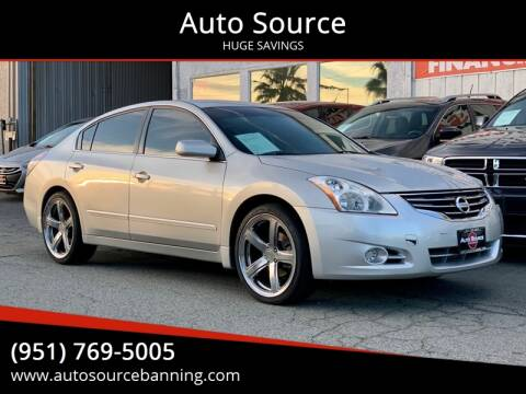 2012 Nissan Altima for sale at Auto Source in Banning CA