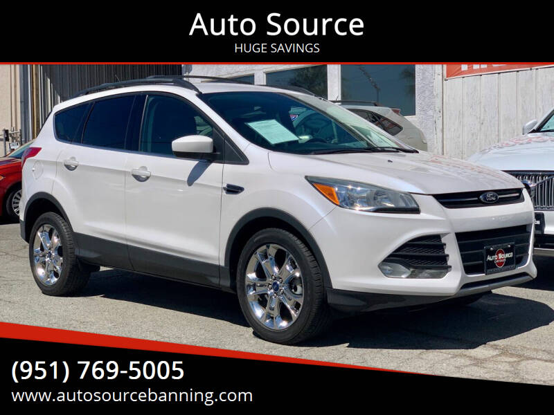 2014 Ford Escape for sale at Auto Source in Banning CA
