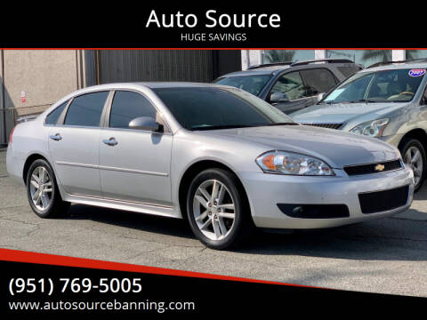 2015 Chevrolet Impala Limited for sale at Auto Source in Banning CA