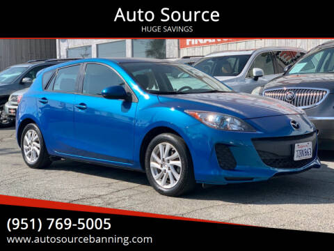 2012 Mazda MAZDA3 for sale at Auto Source in Banning CA