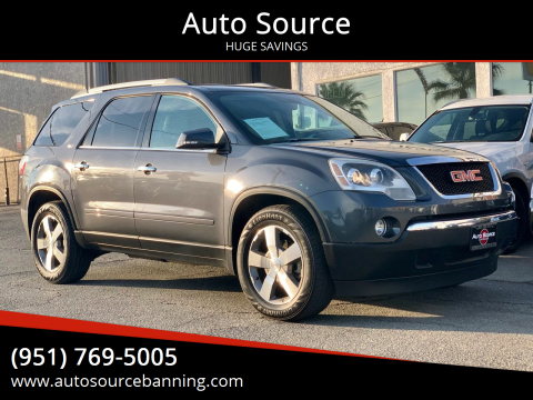 2012 GMC Acadia for sale at Auto Source in Banning CA