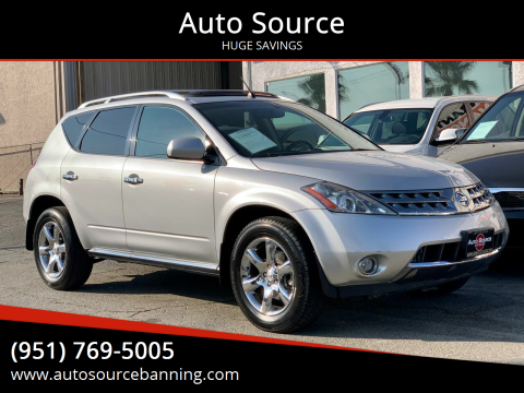 2007 Nissan Murano for sale at Auto Source in Banning CA