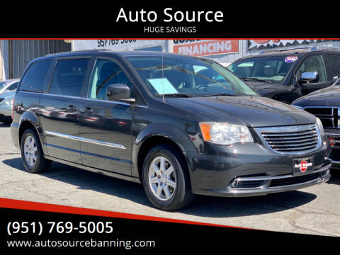 2011 Chrysler Town and Country for sale at Auto Source in Banning CA