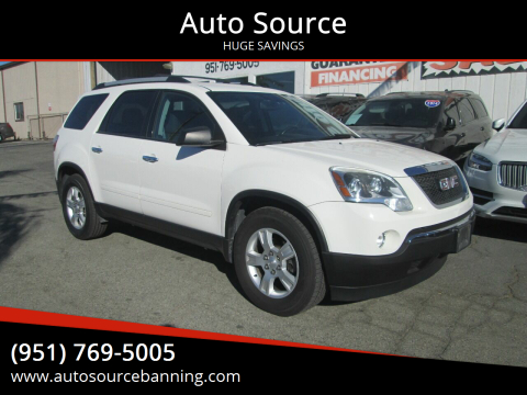 2011 GMC Acadia for sale at Auto Source in Banning CA