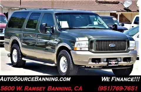 2003 Ford Excursion for sale at Auto Source II in Banning CA