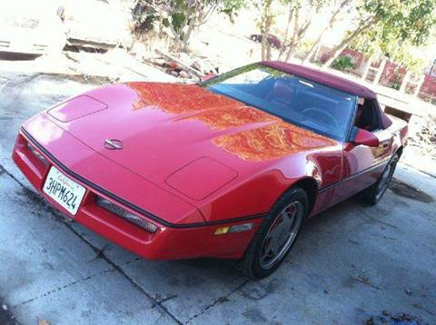 1989 Chevrolet Corvette for sale at CALIFORNIA AUTOMART in San Jose CA