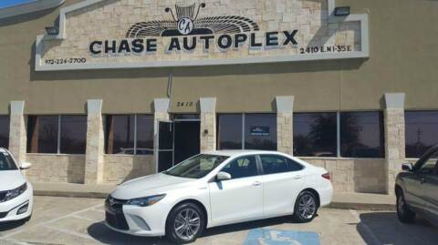 2015 Toyota Camry Hybrid for sale at CHASE AUTOPLEX in Lancaster TX
