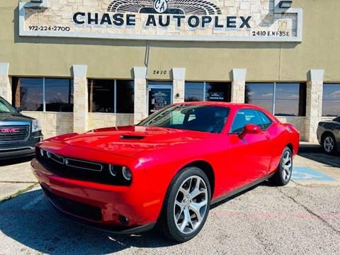 2016 Dodge Challenger SXT Plus for sale at CHASE AUTOPLEX in Lancaster TX