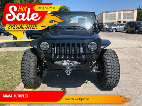 2013 Jeep Wrangler for sale at CHASE AUTOPLEX in Lancaster TX
