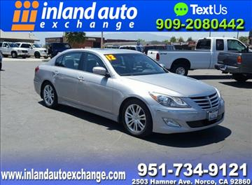 2012 Hyundai Genesis for sale at Inland Auto Exchange in Norco CA