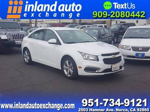 2015 Chevrolet Cruze for sale at Inland Auto Exchange in Norco CA
