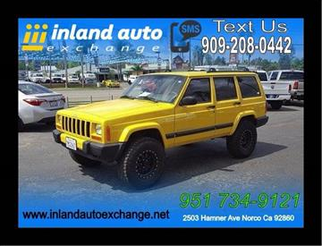 2001 Jeep Cherokee for sale at Inland Auto Exchange in Norco CA
