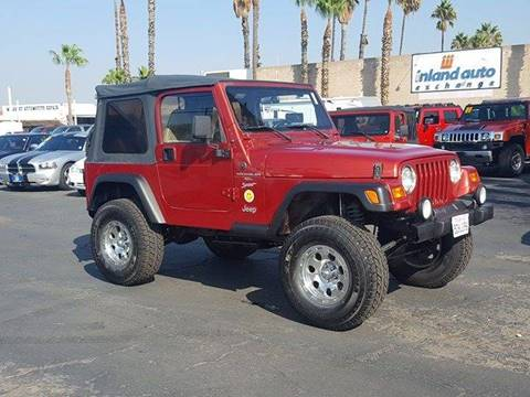 1999 Jeep Wrangler for sale at Inland Auto Exchange in Norco CA