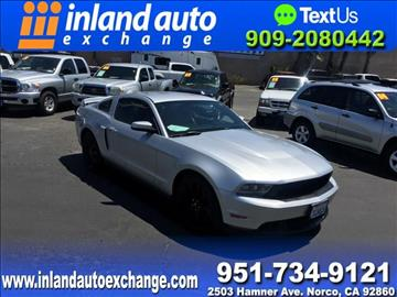 2011 Ford Mustang for sale at Inland Auto Exchange in Norco CA