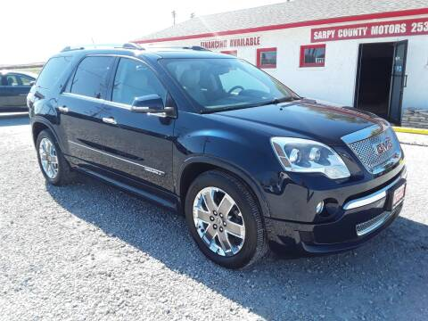 2012 GMC Acadia for sale at Sarpy County Motors in Springfield NE